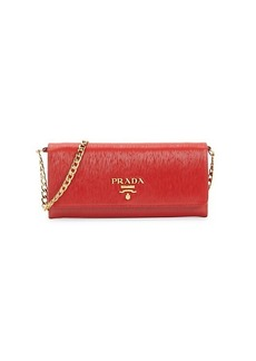Prada Move Leather Wallet-On-Chain