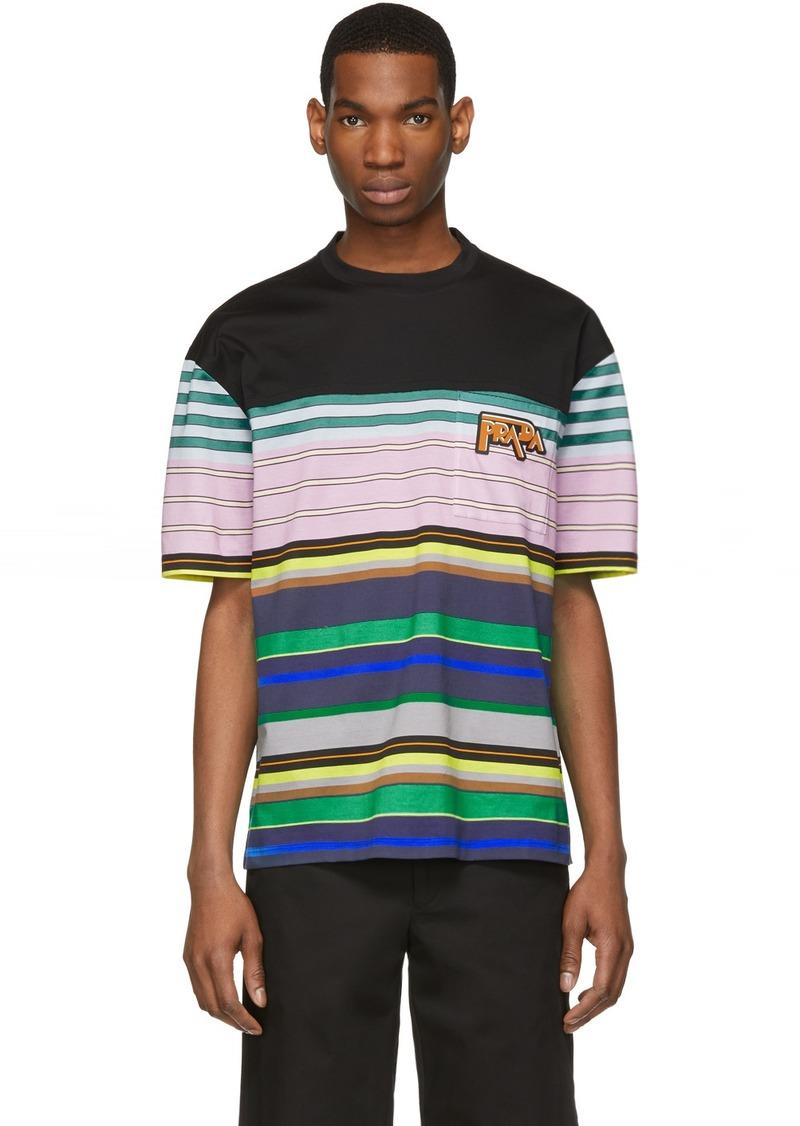 Prada Multicolor Stripe T-Shirt