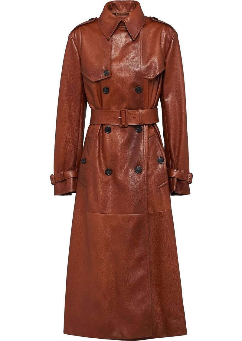 Prada Nappa leather trench coat
