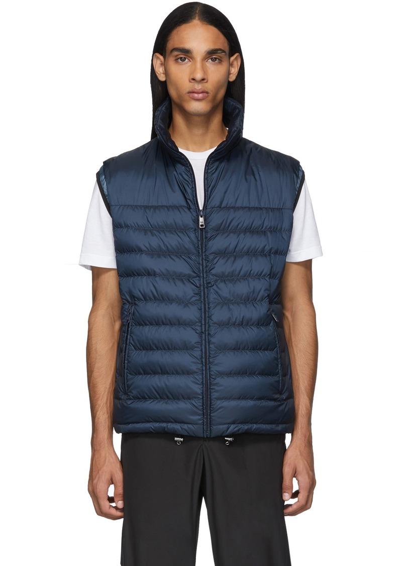Prada Navy Down Travel 100 Grams Vest