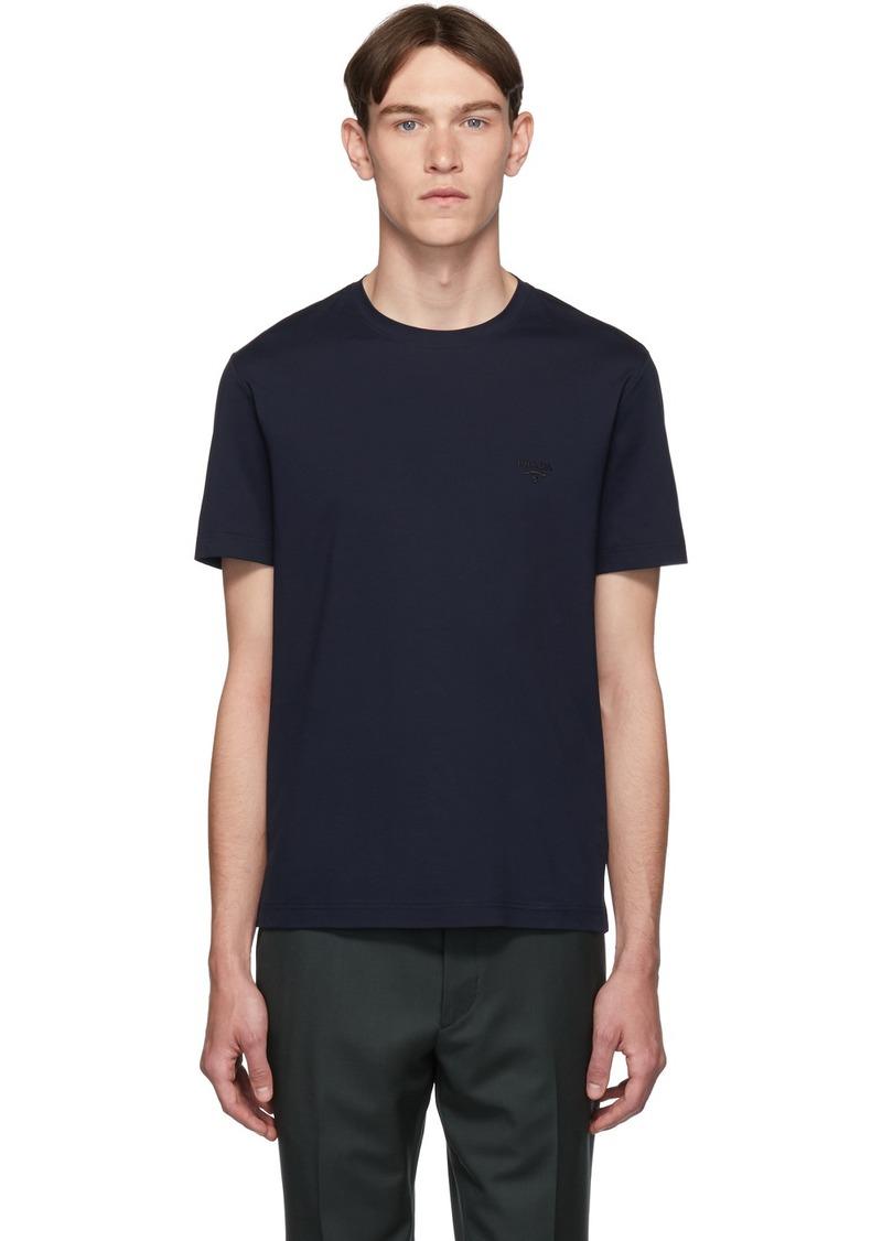 Prada Navy Logo T-Shirt