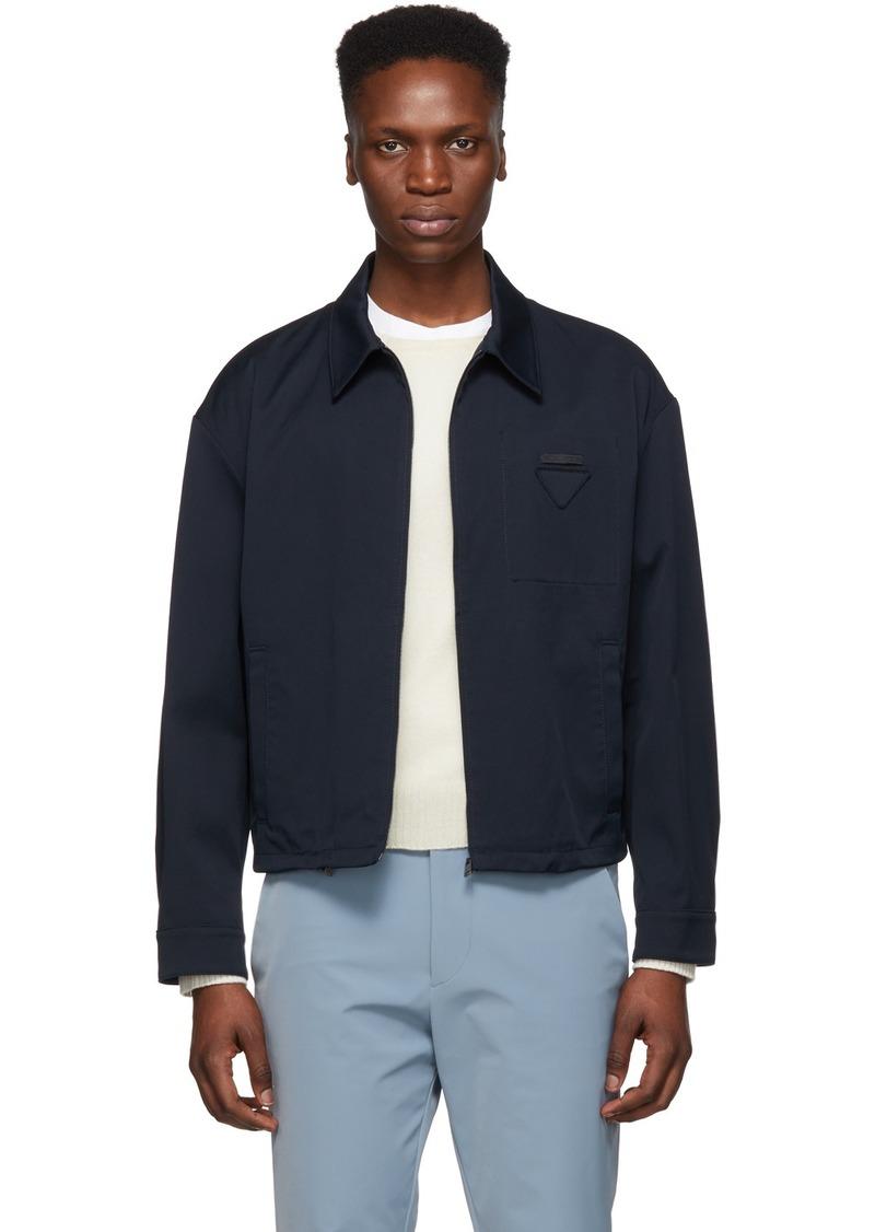 Prada Navy Twill Zip Jacket