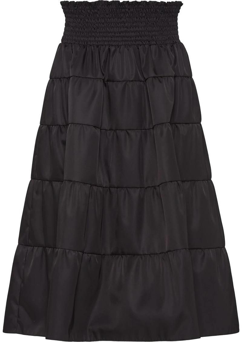 Prada nylon gabardine skirt