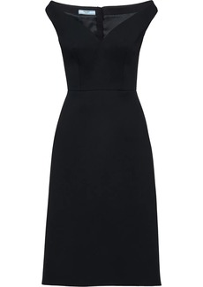 Prada off-shoulder bateau neck dress