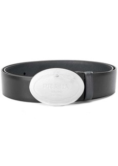 Prada oval buckled belt