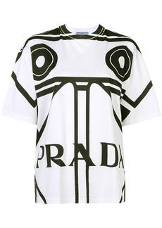 Prada oversized logo print T-shirt