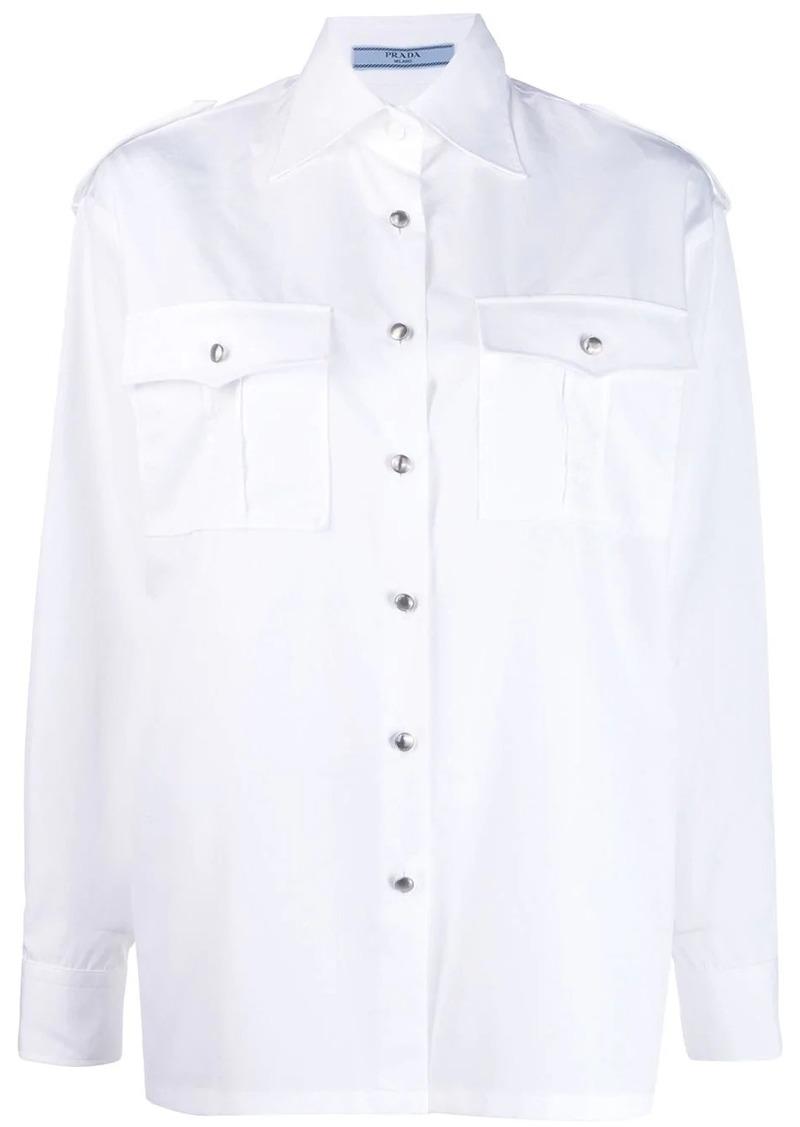 Prada oversized poplin shirt
