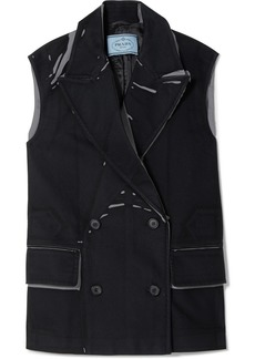 Prada Oversized Printed Cotton-twill Vest