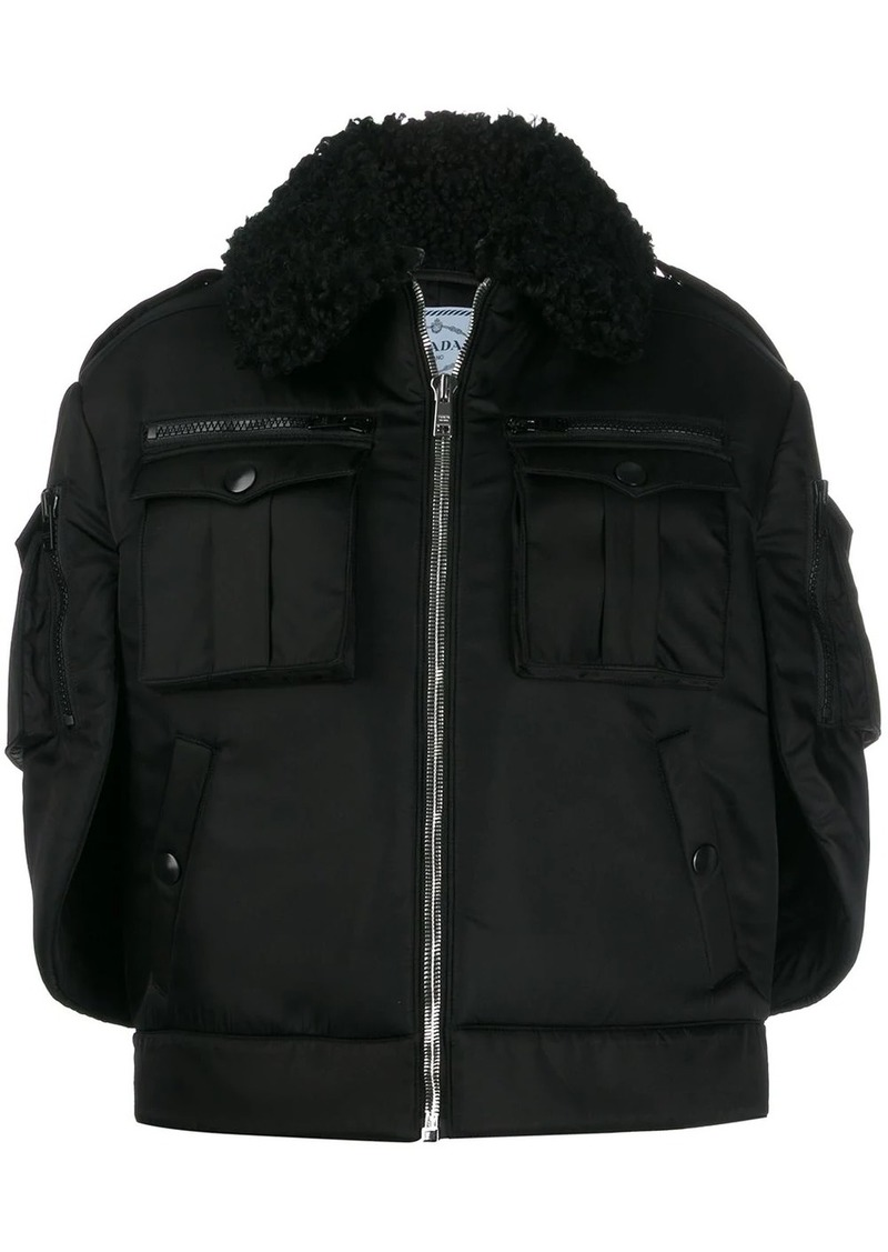Prada oversized zip-front coat
