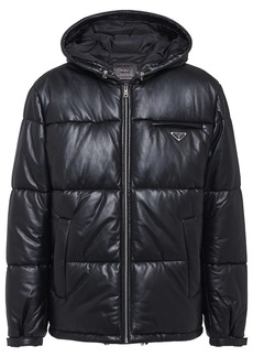 Prada padded leather jacket