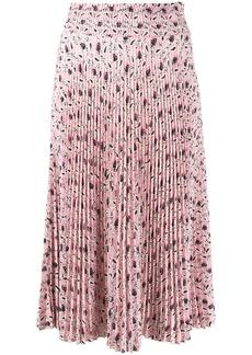 Prada paisley-print pleated skirt