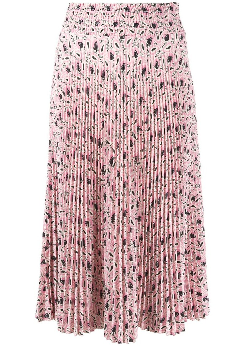 Prada paisley-print pleated skirt