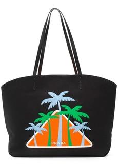 Prada Palms logo tote bag