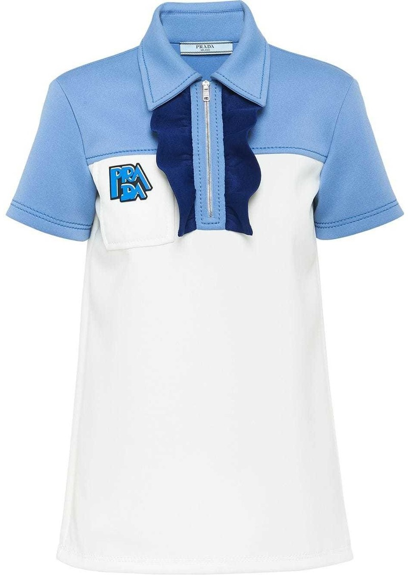 Prada panelled polo top