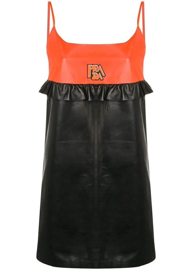 Prada panelled slip dress