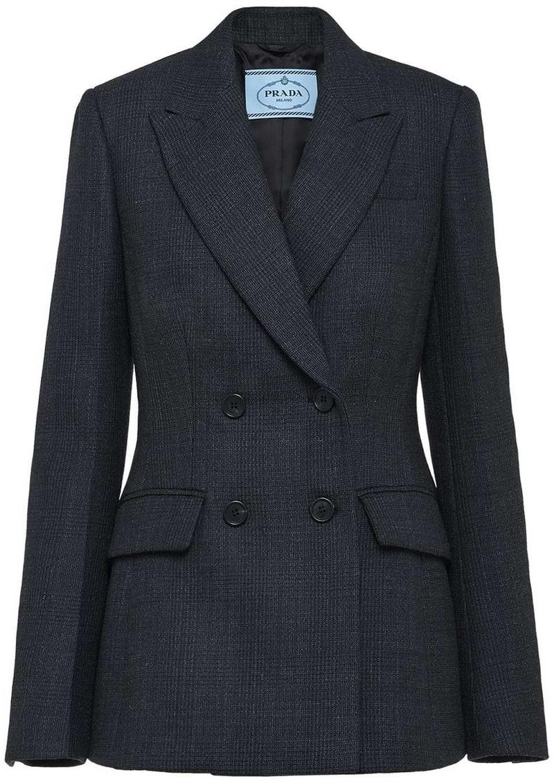 Prada peaked lapel blazer jacket