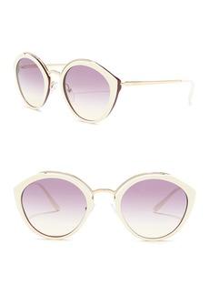 Prada Phantos 53mm Round Cat Eye Sunglasses