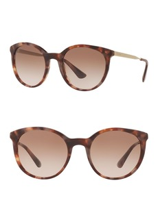 Prada Phantos Cinema 53mm Round Sunglasses