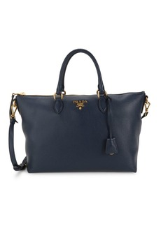Prada Phenix Vitello Leather Satchel