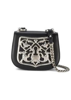 Prada black Piastra Metal Filigree cross body bag