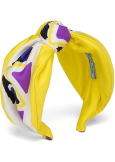 Prada picturesque printed silk headband