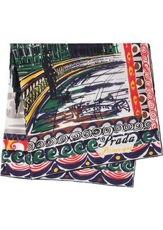 Prada Pittoresque London printed foulard