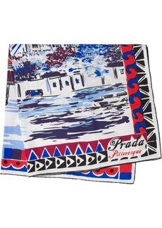 Prada Pittoresque Paris printed foulard