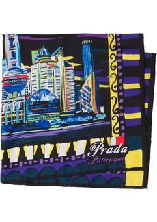 Prada Pittoresque shanghai print foulard