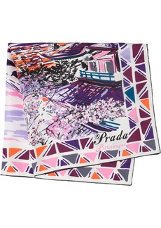 Prada Pittoresque Tokyo printed foulard