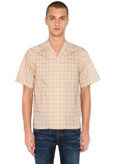 Prada Plaid Short Sleeve Cotton Bowling Shirt