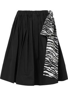 Prada Pleated Cotton-poplin Skirt
