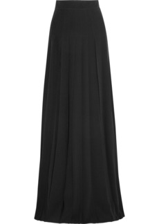 Prada Pleated Crepe Maxi Skirt