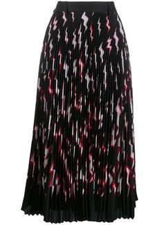Prada pleated lightning bolt skirt
