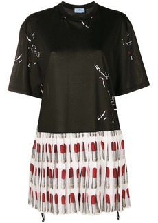 Prada pleated Lipstick dress