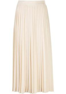 Prada pleated logo skirt