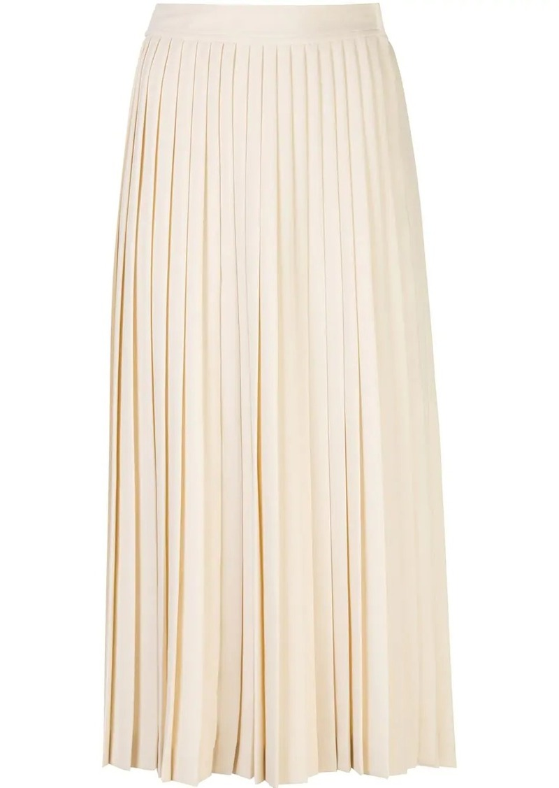 Prada pleated logo skirt