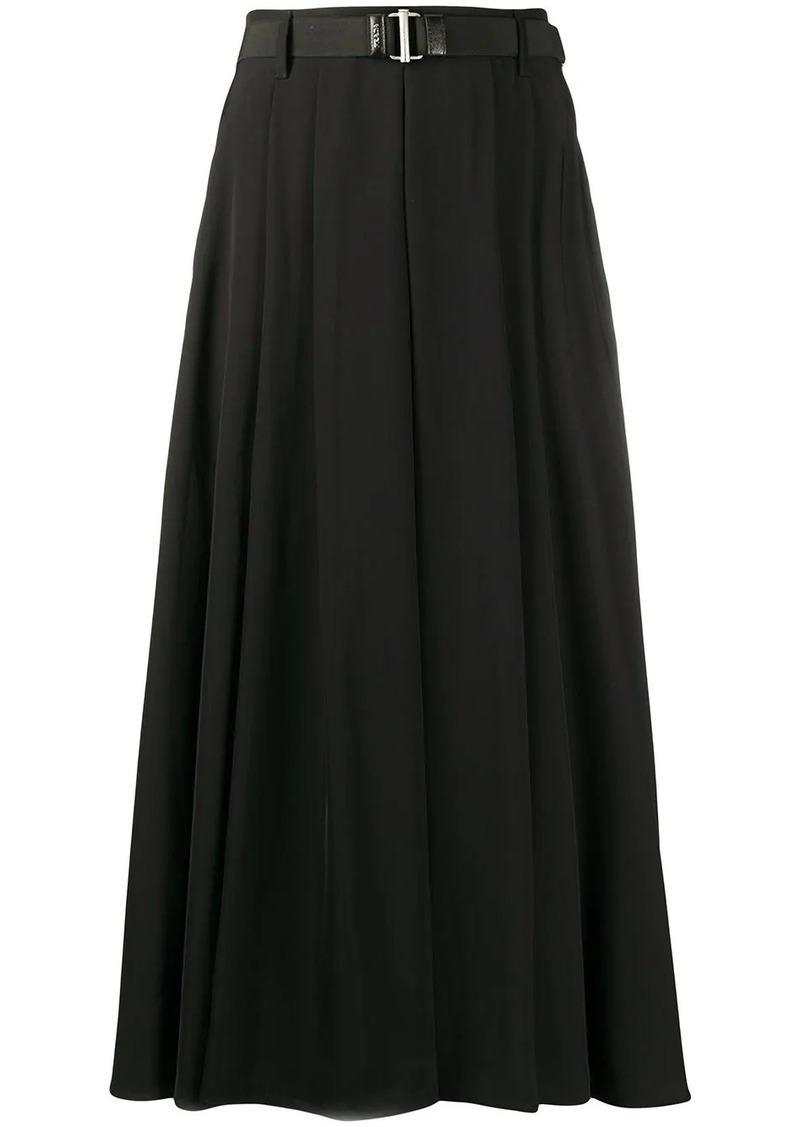 Prada pleated long skirt