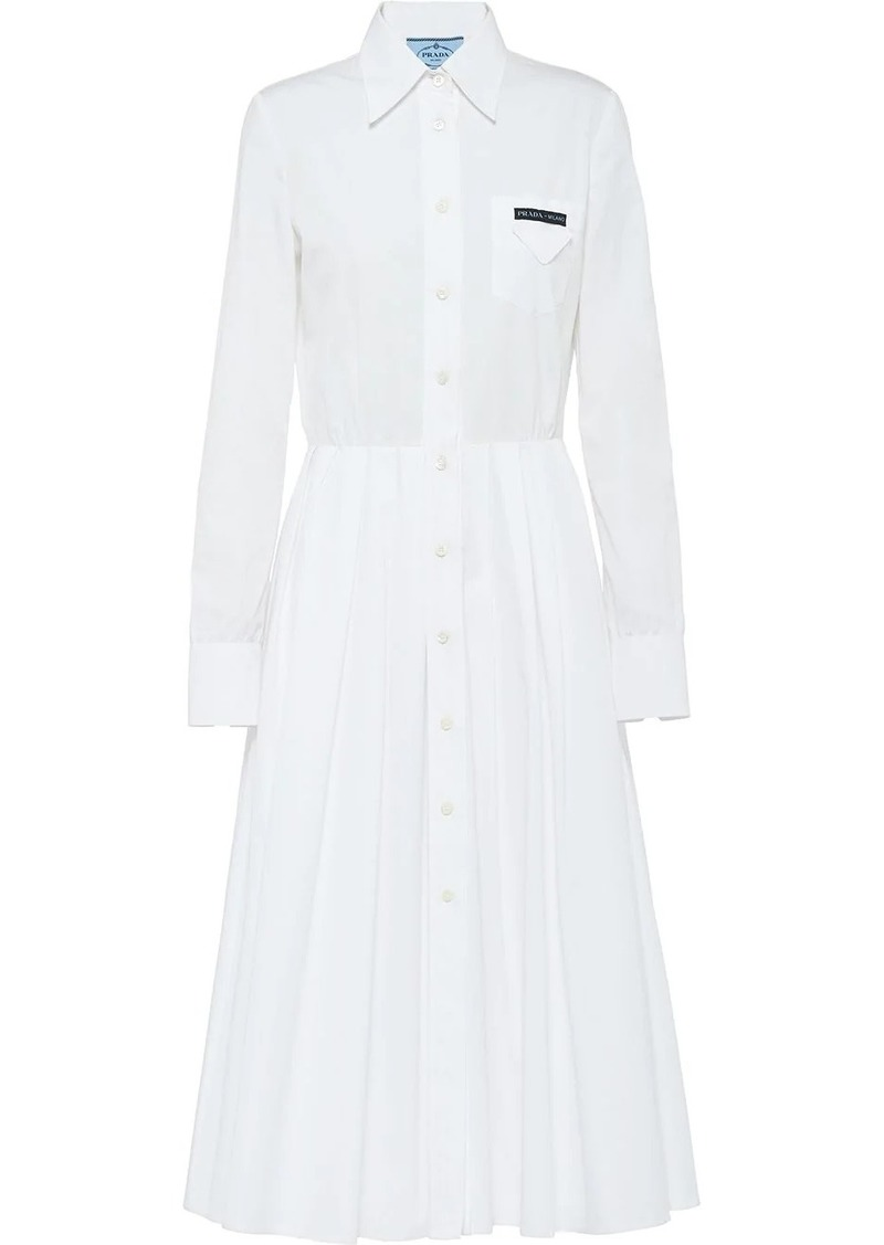 Prada pleated shirt dress
