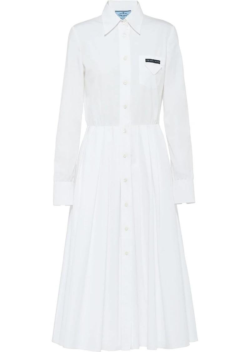 Prada pleated shirt dress
