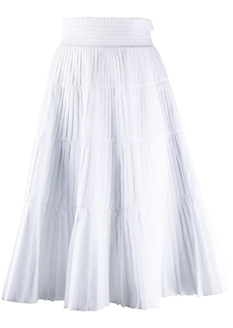 Prada pleated tiered skirt