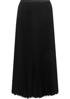 Prada Plissé-crepe Midi Skirt