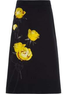 Prada Poplin printed skirt