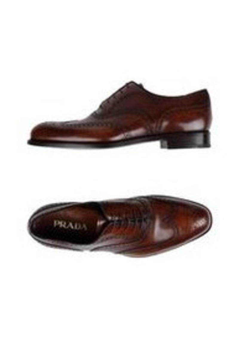 PRADA - Laced shoes