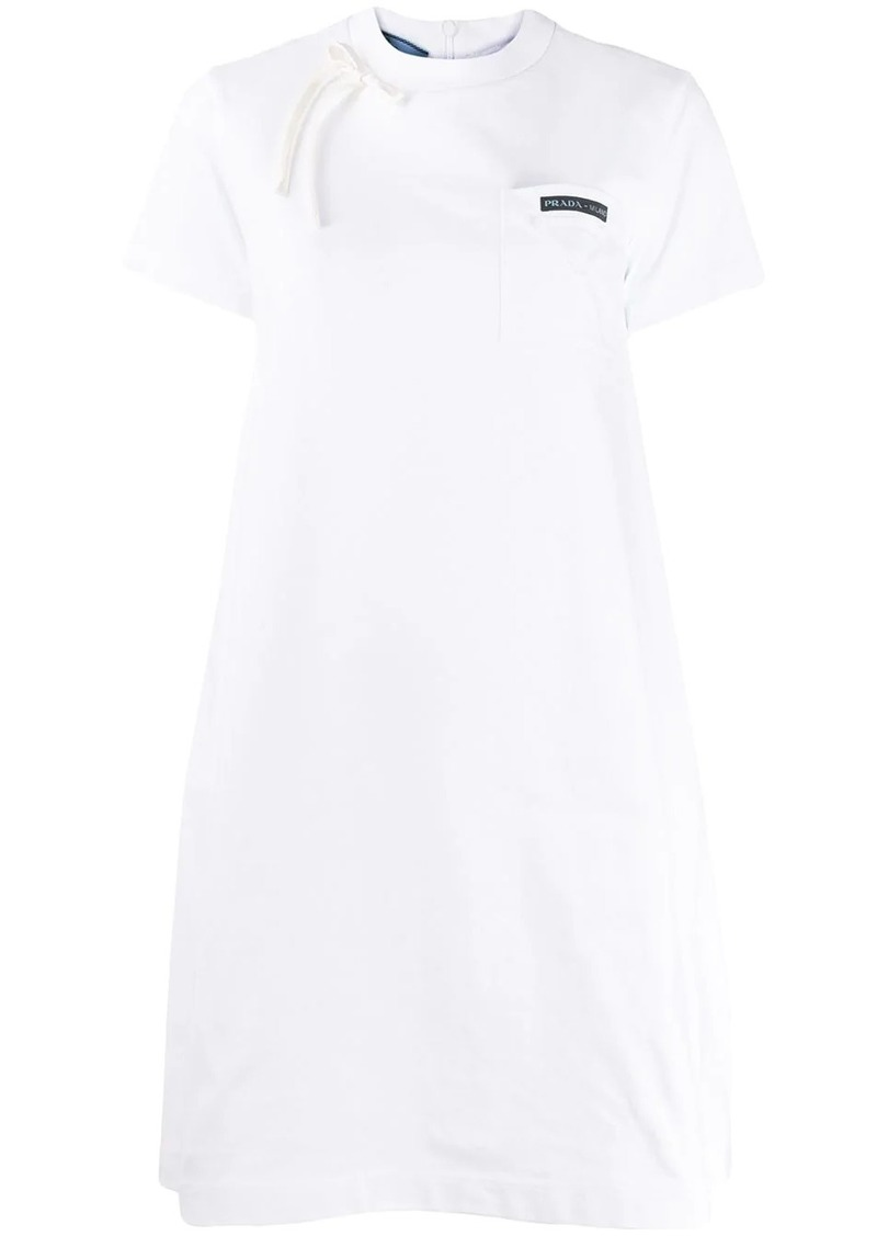Prada bow-detail T-shirt dress