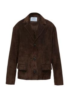 Prada - Women's Leather Jacket  - Neutral/brown - Moda Operandi