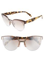 Prada 43mm Semi Rimless Sunglasses