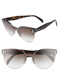 Prada 50mm Semi Rimless Gradient Sunglasses