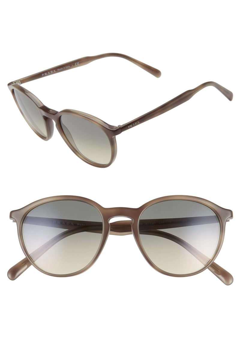 Prada 51mm Gradient Round Sunglasses