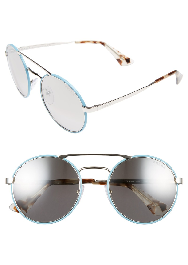 cabd7866e1 ... where to buy prada 51mm mirrored round sunglasses 6e4e2 f6ab3