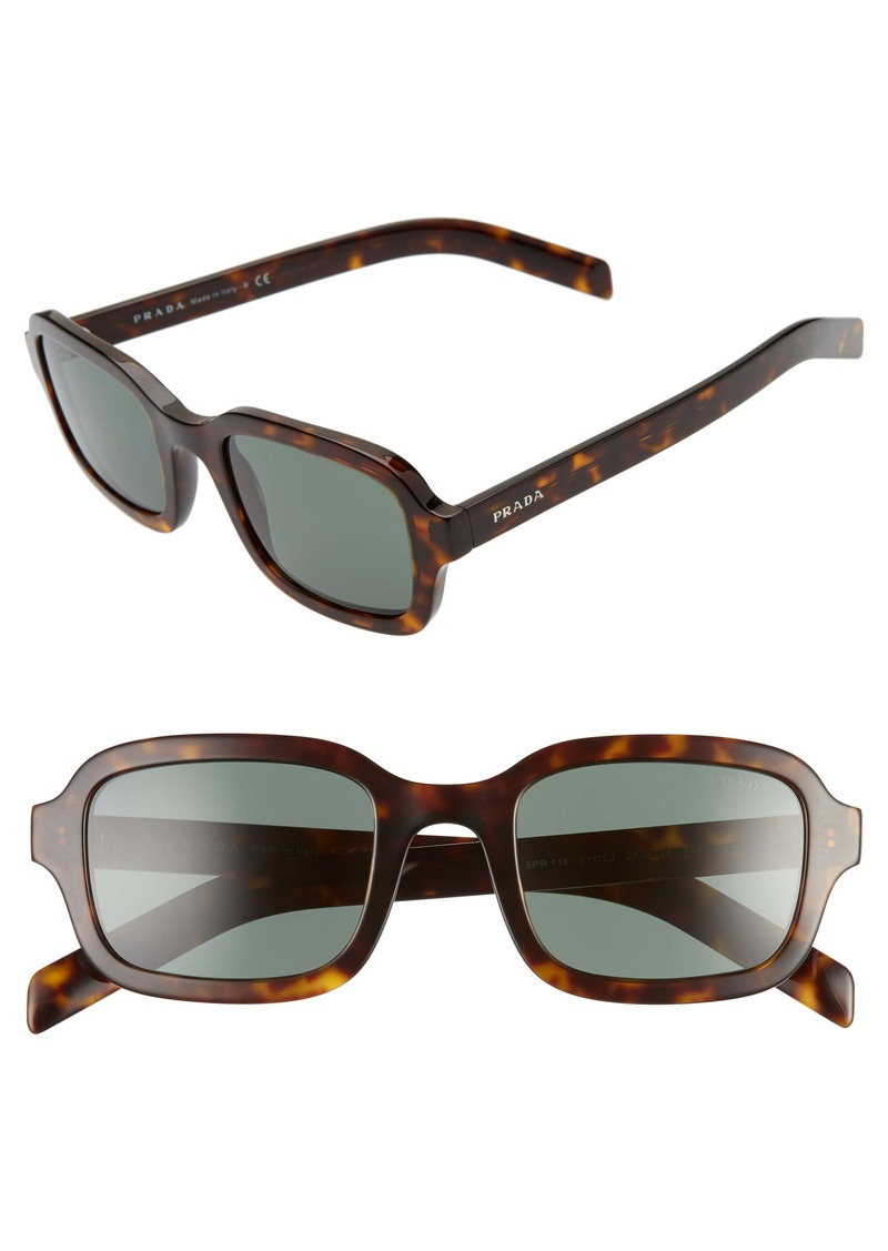 Prada 51mm Rectangle Sunglasses